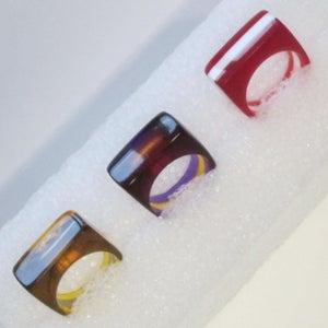 Laser Cut Jewelry: Layered Acrylic Rings