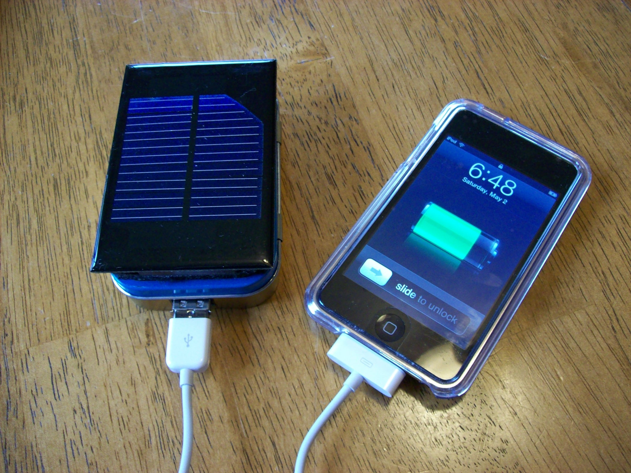 How To Make A Solar Ipod Iphone Charger Aka Mightymintyboost 5 Cellphone Lithium Ion Battery Circuit Of Lm317 Steps With Pictures