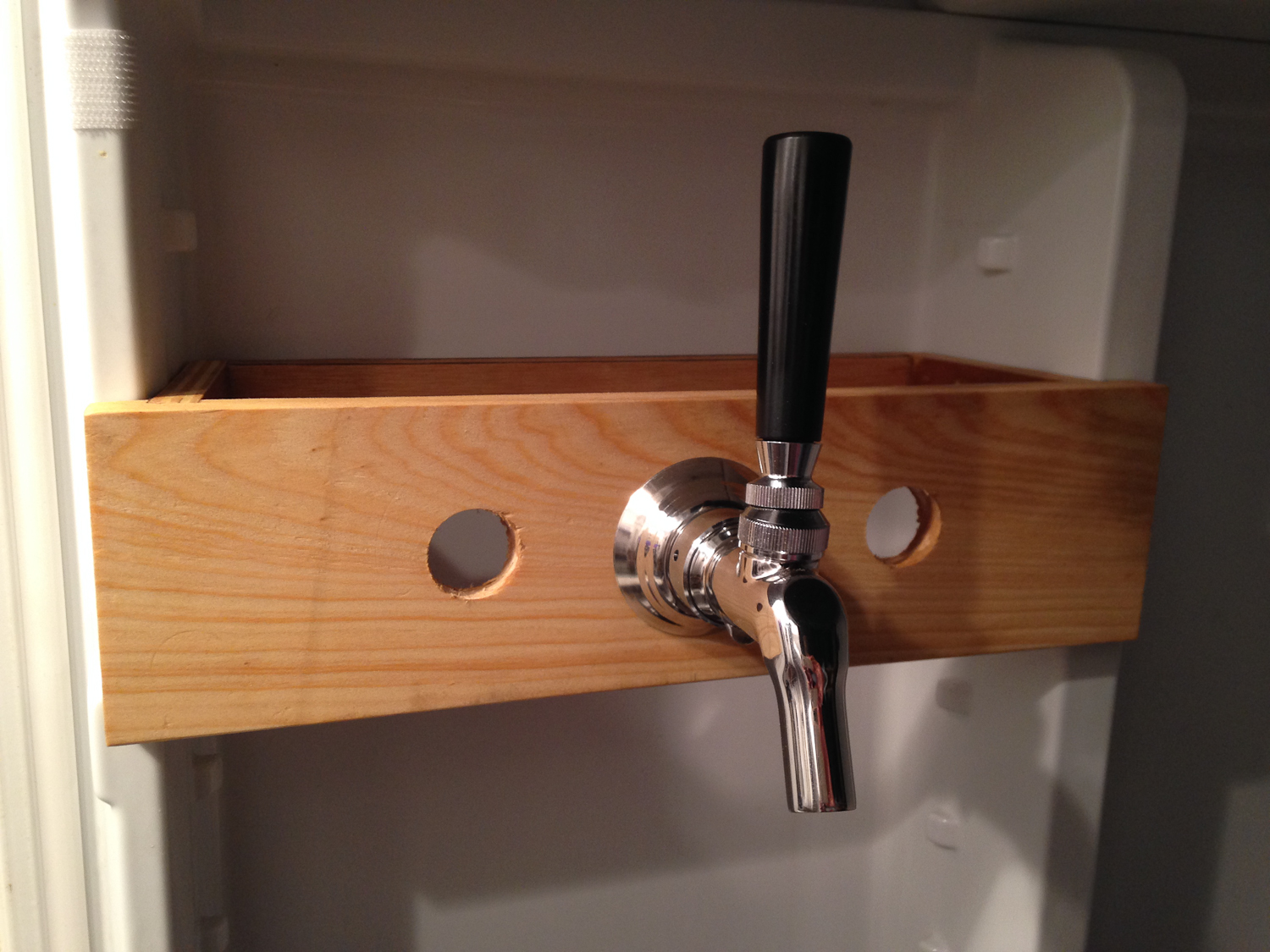 Picture of Make a Beer Tap Mount to Hang Inside the Refrigerator Door.