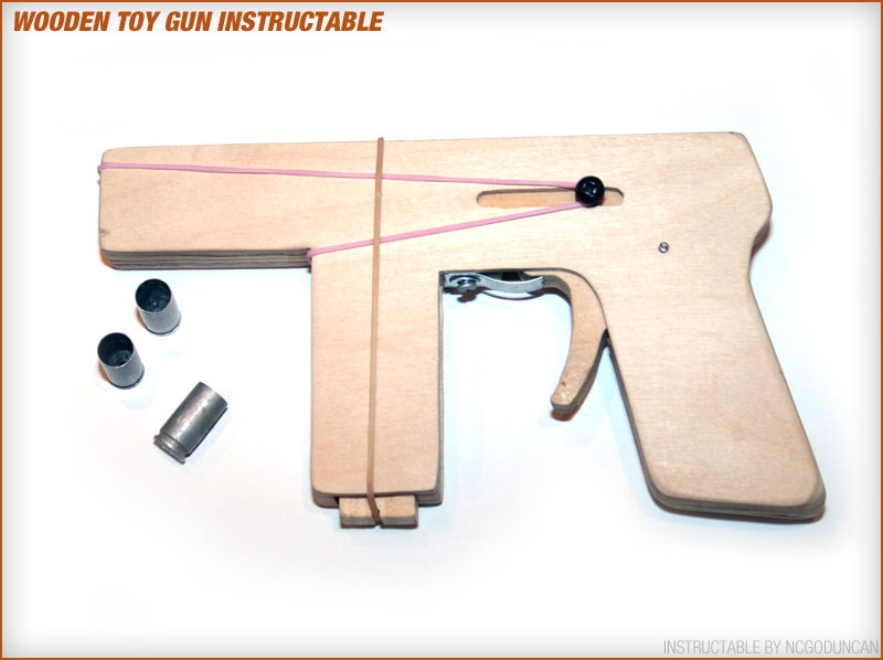 Picture of Make a Toy Wood Gun That Shoots 9mm Brass Casings