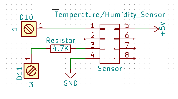 Picture of Temperature/humidity Sensor Wiring