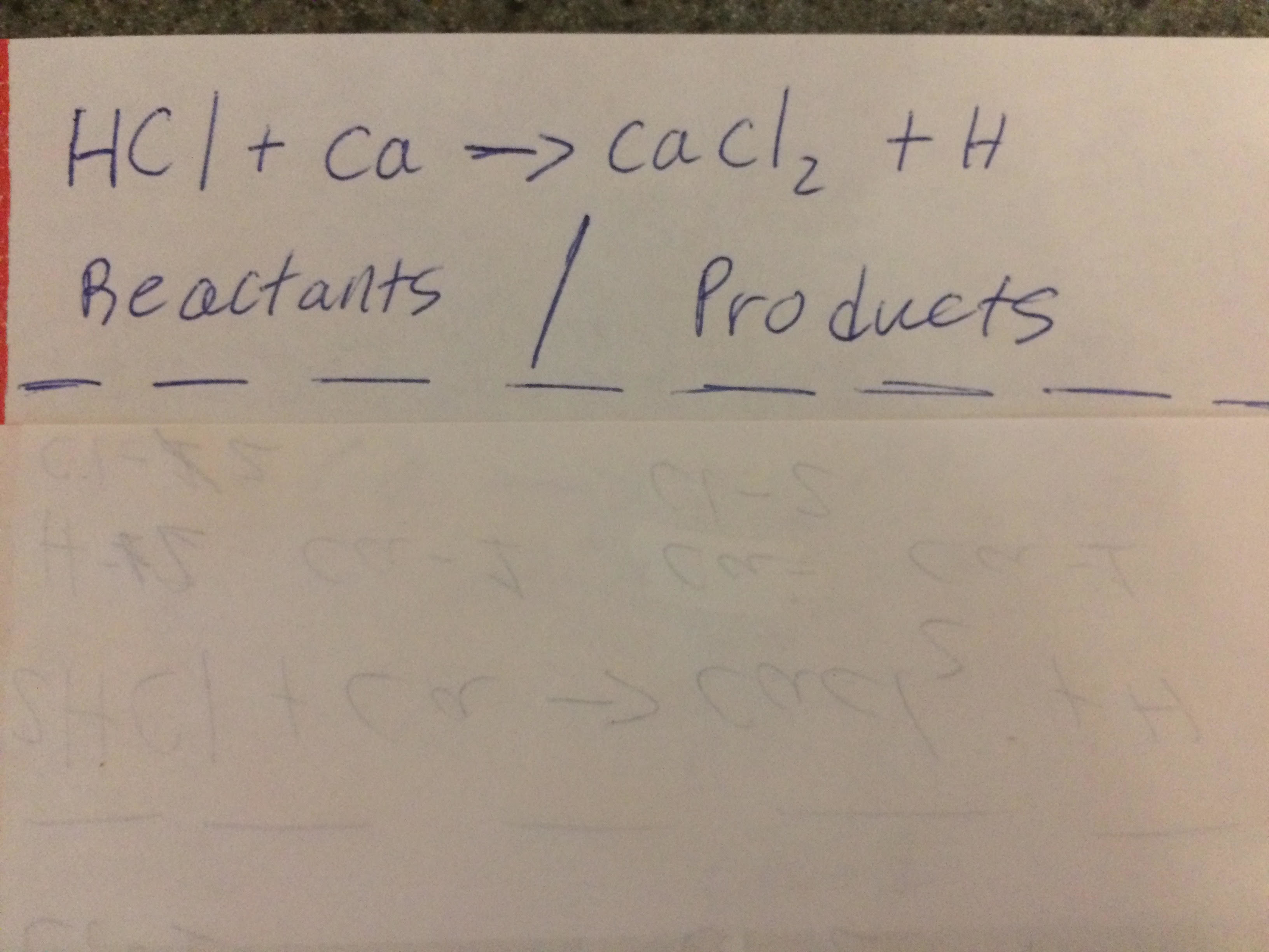 Picture of Step 1: Write Down the Different Elements in You Equation