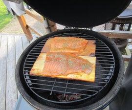 Maple Syrup - Cedar Plank Salmon - Big Green Egg/Kamado Grill