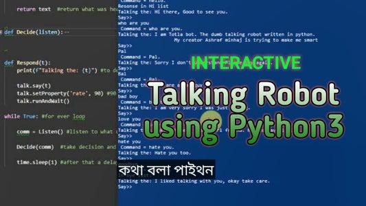 TotLa: Interactive Talking Robot in Python3