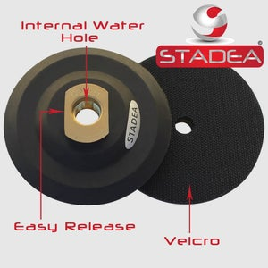Attach Velcro Backing Pads to Grinder