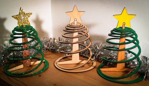 Easy Three Piece Flat Pack Christmas Tree