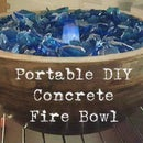 Portable DIY Concrete Fire Bowl
