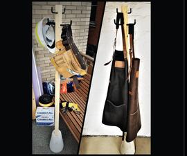 Industrial Freestanding Coat Rack