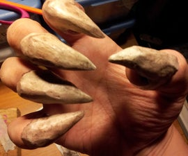 Monster Claws with Homemade Paper Clay