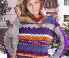 serger made elf hoodie