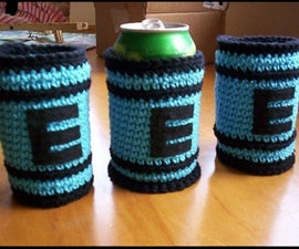 Mega Man E-Tank crochet can cozy pattern