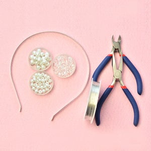 Jewelry Craft Supplies for Making the Beaded Headband: