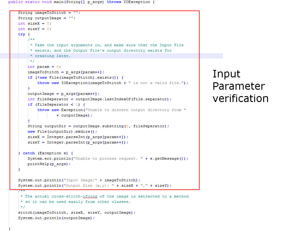 Picture of Take the Input Parameters