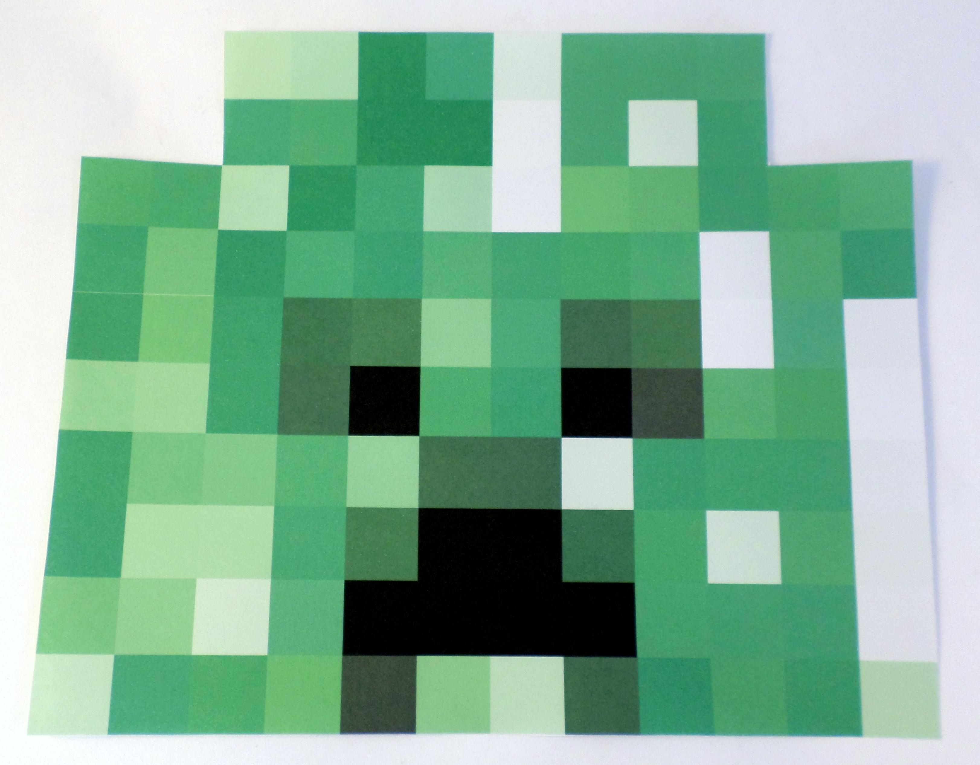 Picture of Putting the Creeper Skin on the Head