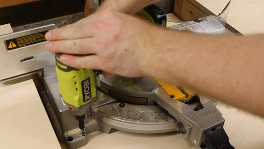 Positioning and Securing the Miter Saw