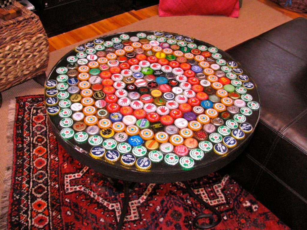 Bottle Cap Table With Poured Resin Surface 9 Steps With Pictures Instructables