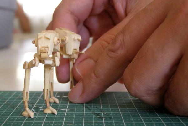Mini AT-ST Popsicle Stick Model
