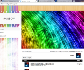 Rainbow color website in 5 min for free
