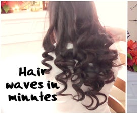 DIY, how to make hair curls in few minutes fast and easy