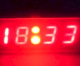Arduino 7 Segment Display Clock (+sound activation)
