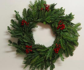 home-made rustic christmas wreath