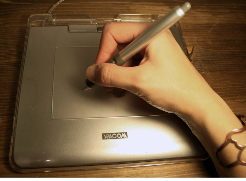 Picture of Using a Wacom