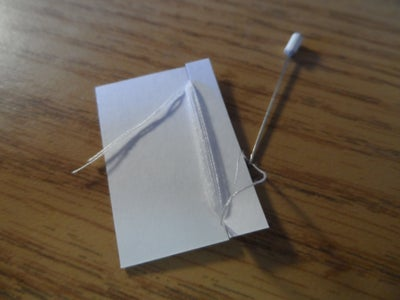 Safe Needle and Thread Holder for Wallet First Aid Supplies