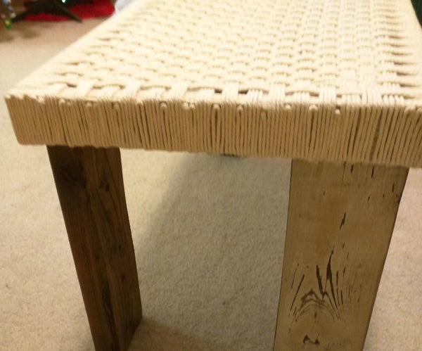Woven Top Coffee Table From Scrap