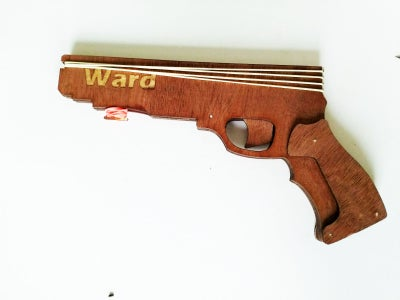 Simple Rubber Band Gun Using Laser Cutter