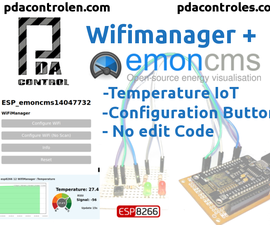 WifiManager + Emoncms (OEM) With ESP8266 (Temperature) #1