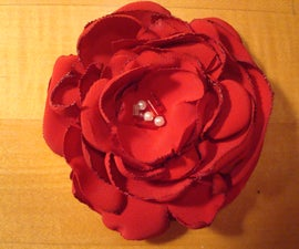 Brooch Flower Pin From Grandma's Polyester Blouse