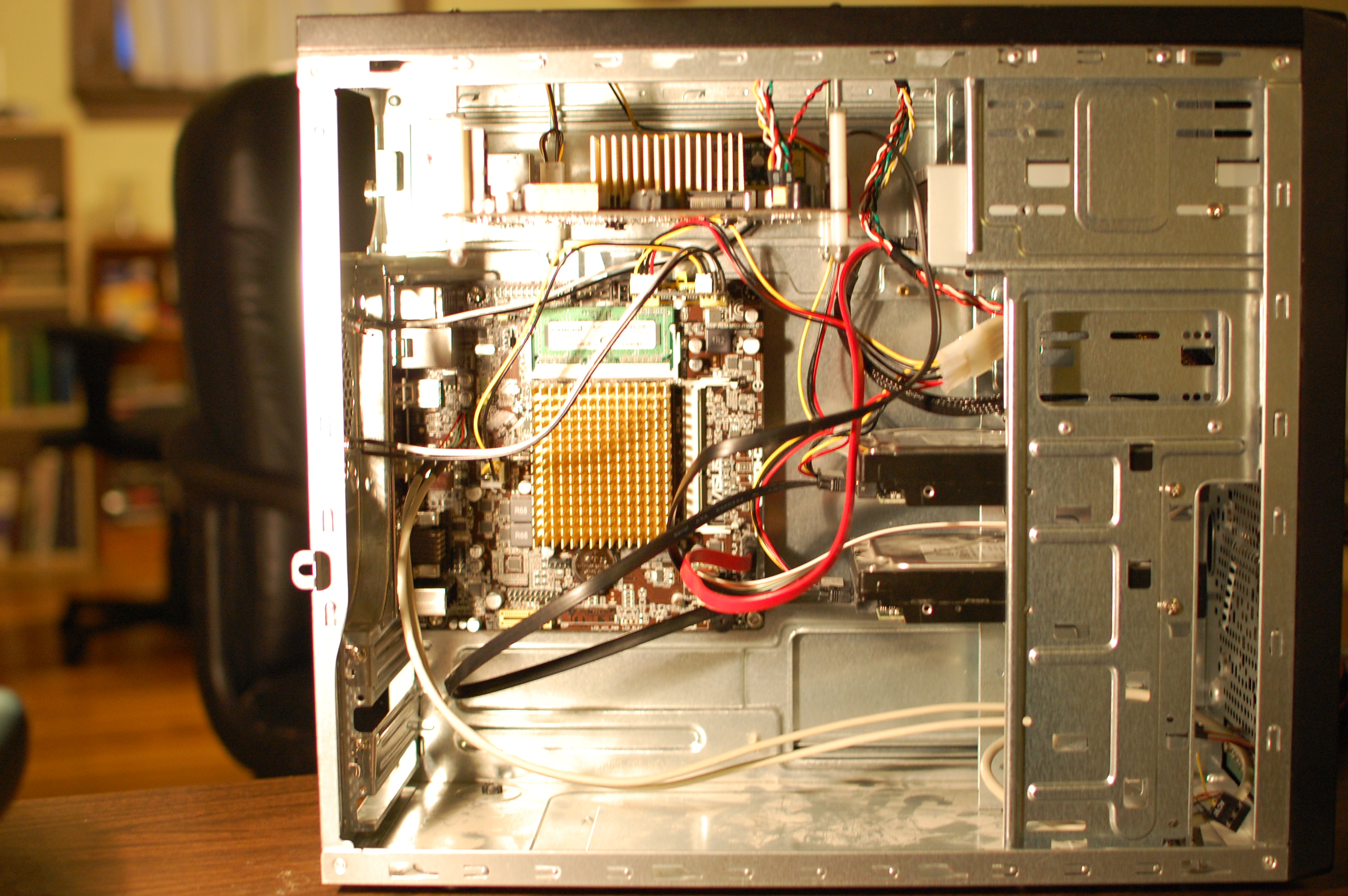 Picture of Two Complete Computers in One Case