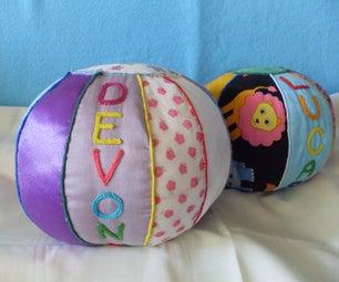 Fabric Scrap Cloth Baby Ball