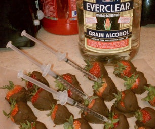 The New Age of Fruit and Alcohol.  Chocolate Dipped Strawberries Injected With Alcohol.  Perfect for Parties, or Just Fun to Make and Consume.