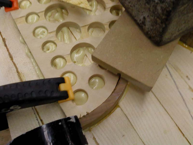 Picture of Cut Your Bottom Deck to Shape and Glue the Frame.