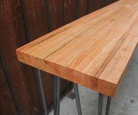 DIY Butcher Block Desk