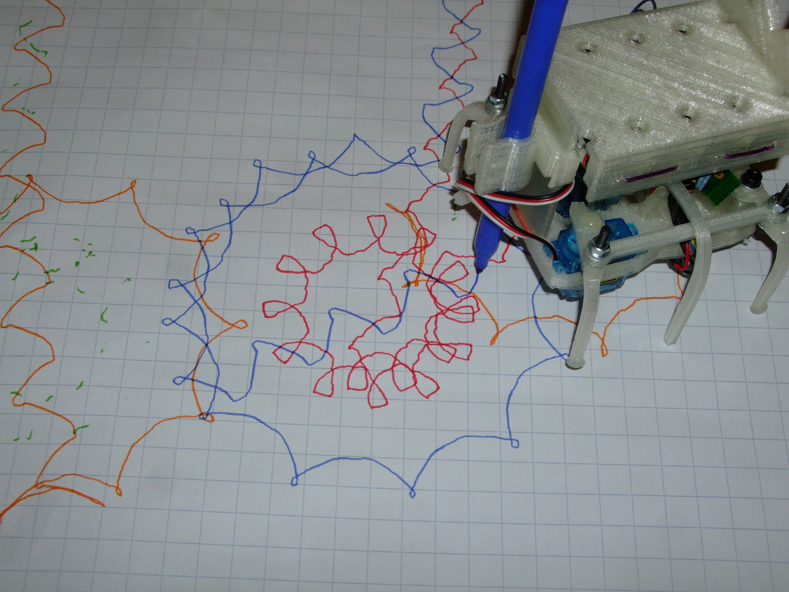 Picture of Hexapod Starts to Draw!