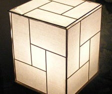 Japanese Lamp From Recycled Materials