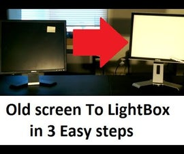 How to turn an old flat screen into a LightBox for free