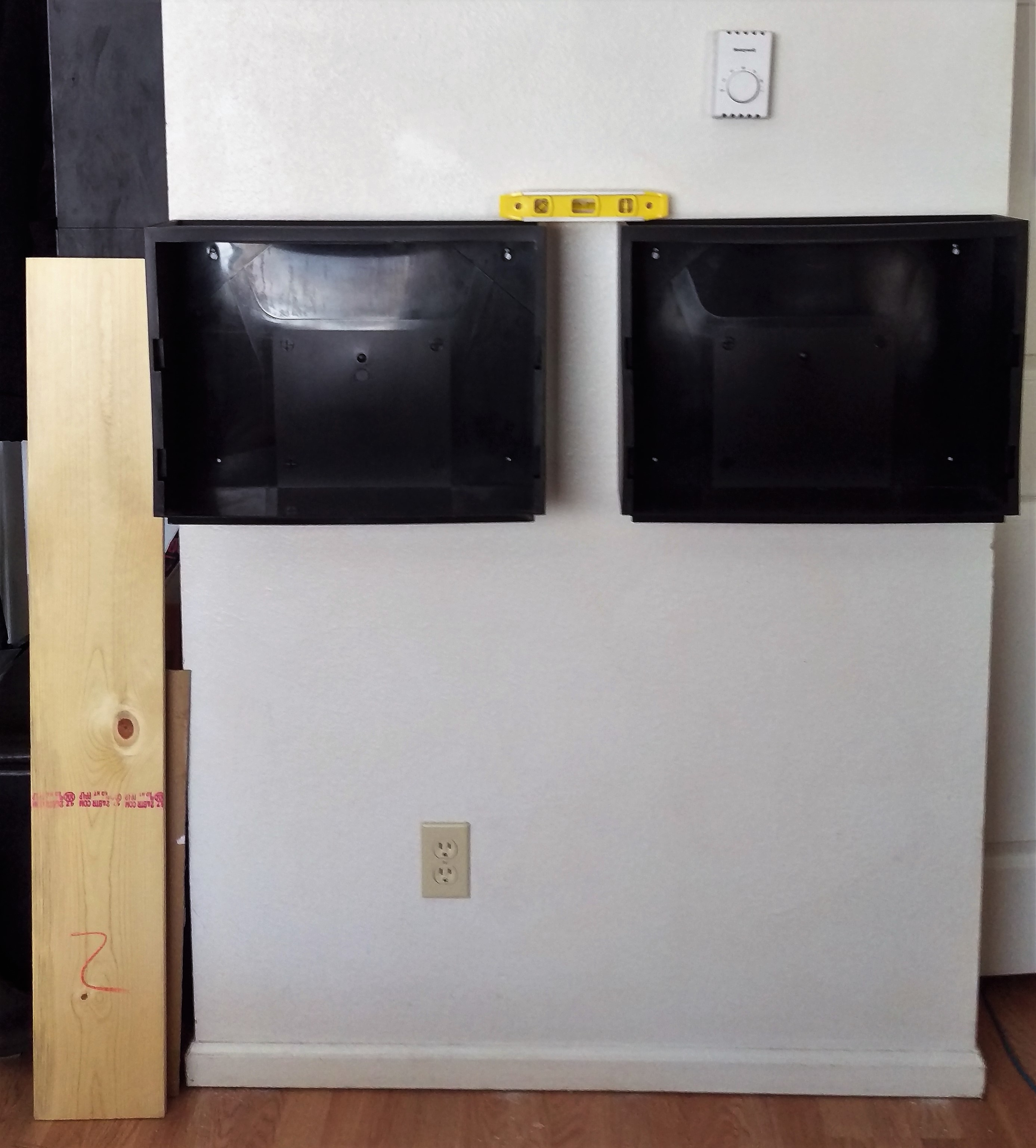 Picture of Mount Storage Bins to the Wall and Make Sure They Are Level.