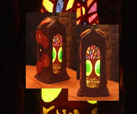 'Space Age' Altar Lamp With Interchangeable Transparency Silhouettes
