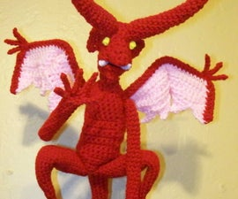 Crocheted Demon Says Hell(o)