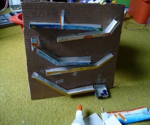 Easy to Make Cardboard Marble Run