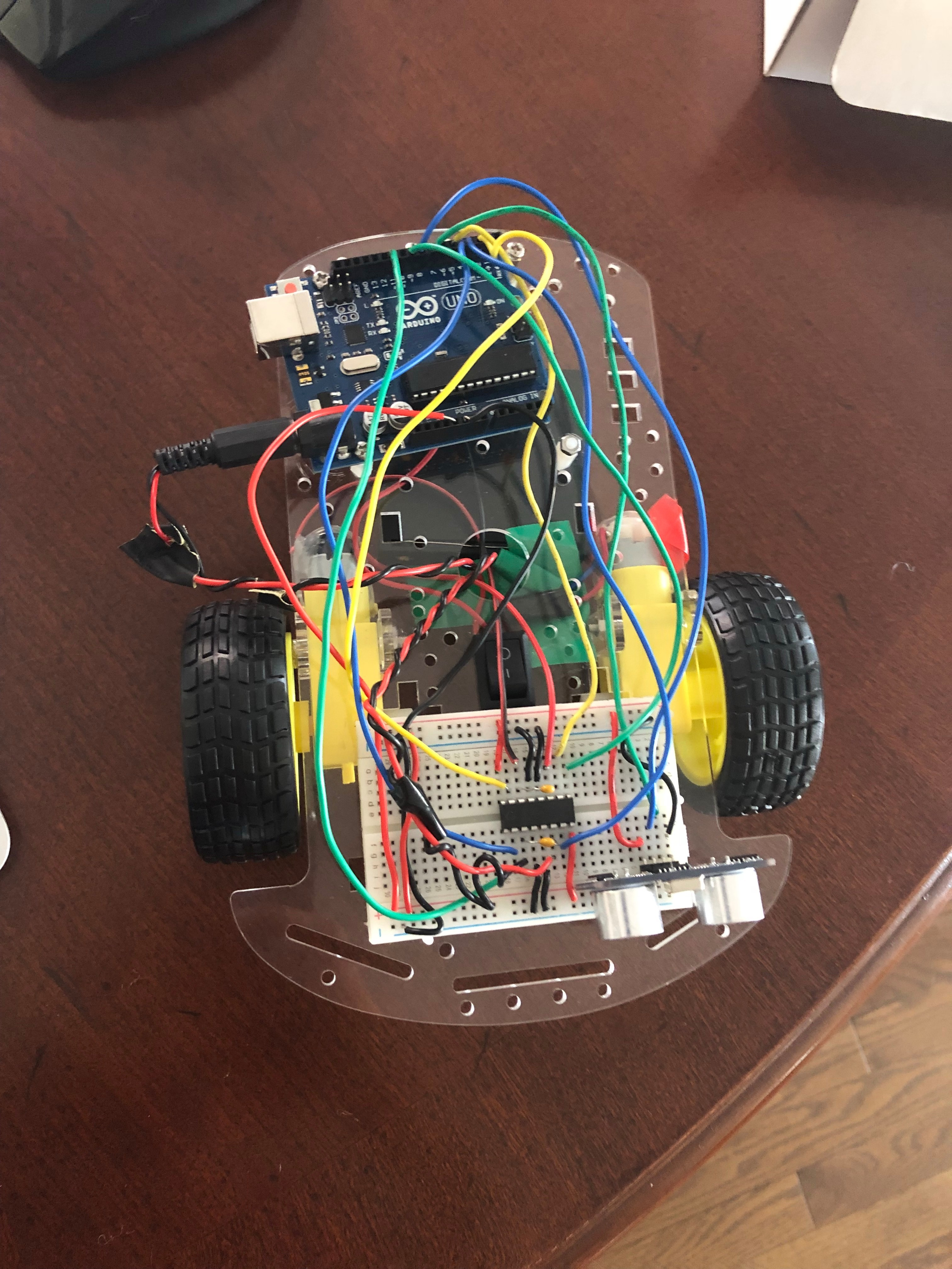 Picture of How to Make an Obstacle Detecting Car