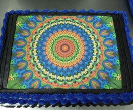 Rainbow mandala cake w/ edible Graphics