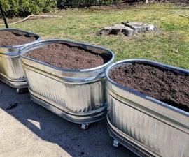 Metal Water Trough Planters