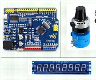 Arduino, Ten Turn Precision Potentiometer and MAX7219 Interface