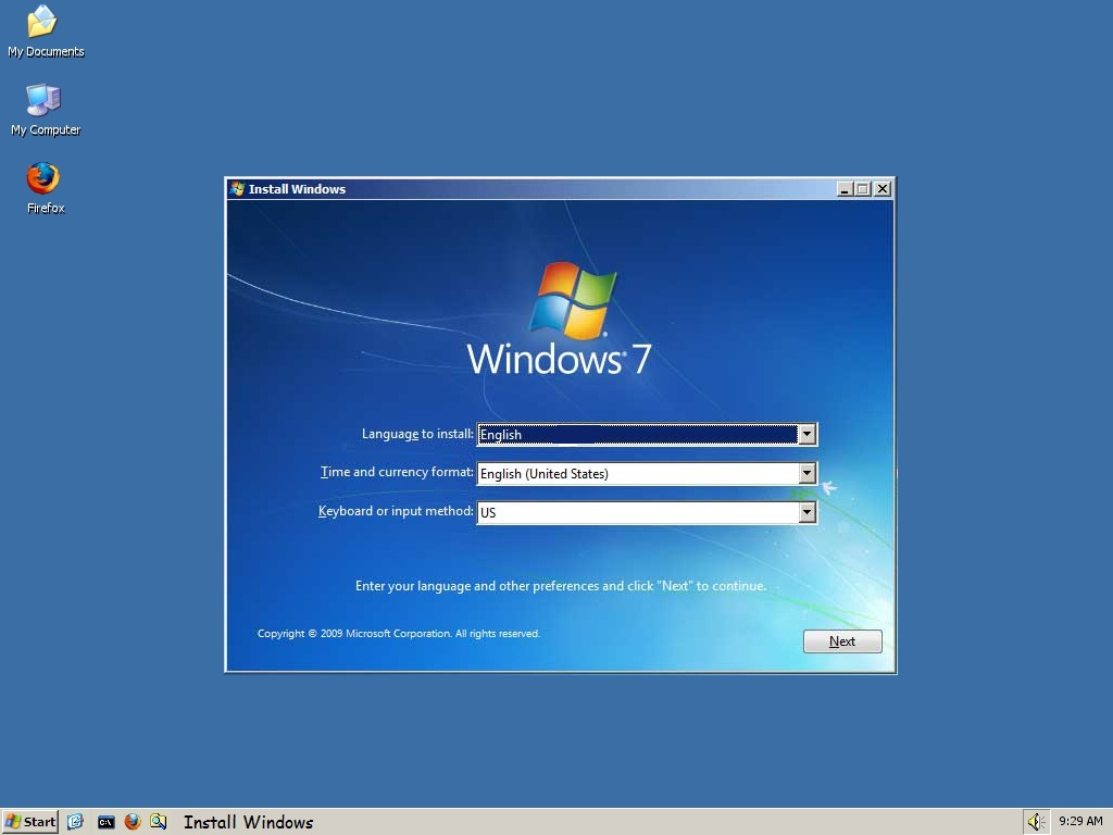 Picture of Install Windows 7 or Vista From Within XP