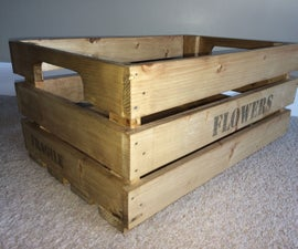How to Make a Wooden Crate!