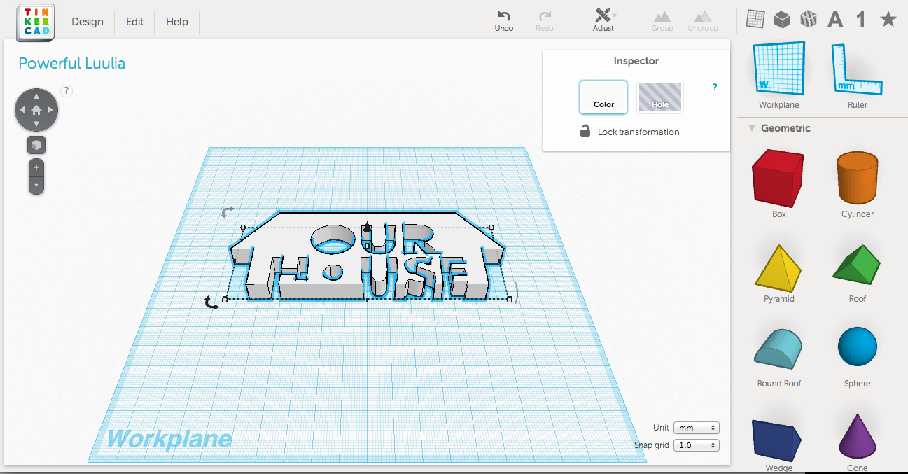 Picture of Arrange Models in Tinkercad